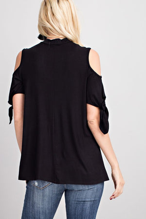 Cold Shoulder Key Hole SS Top