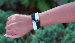 Sashka Limited Edition Mint Clear and Black Bracelet