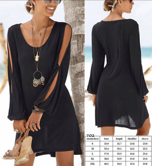 Little Black Open Sleeve Dress