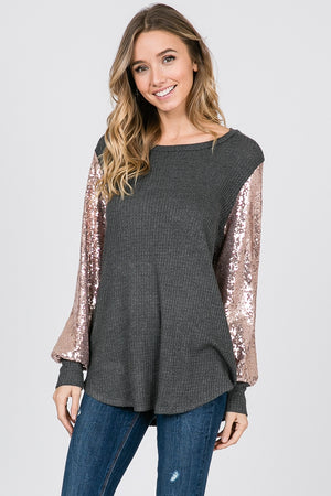 Sequin Long Sleeve