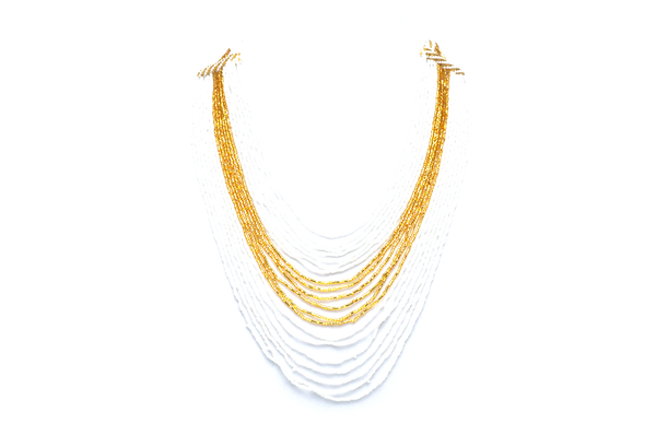 Sashka White/Gold Necklace