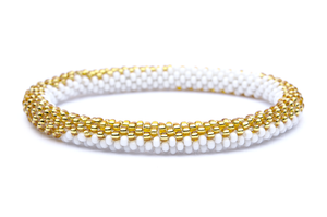 Sashka White and Gold Bracelet