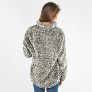 Olive Green Plush Sherpa