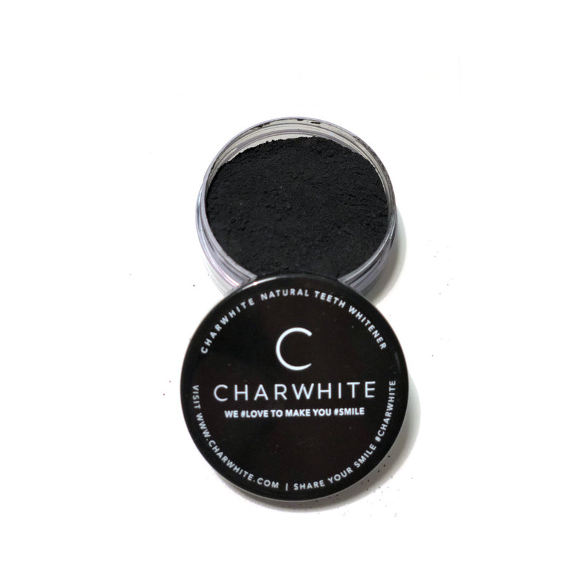 The iconic German CHARWHITE powder makes your teeth naturally white and it's absolutely non-toxic. It's a high-quality, trendy and very eco-friendly product. Whitening your teeth has never been so fun and safe!