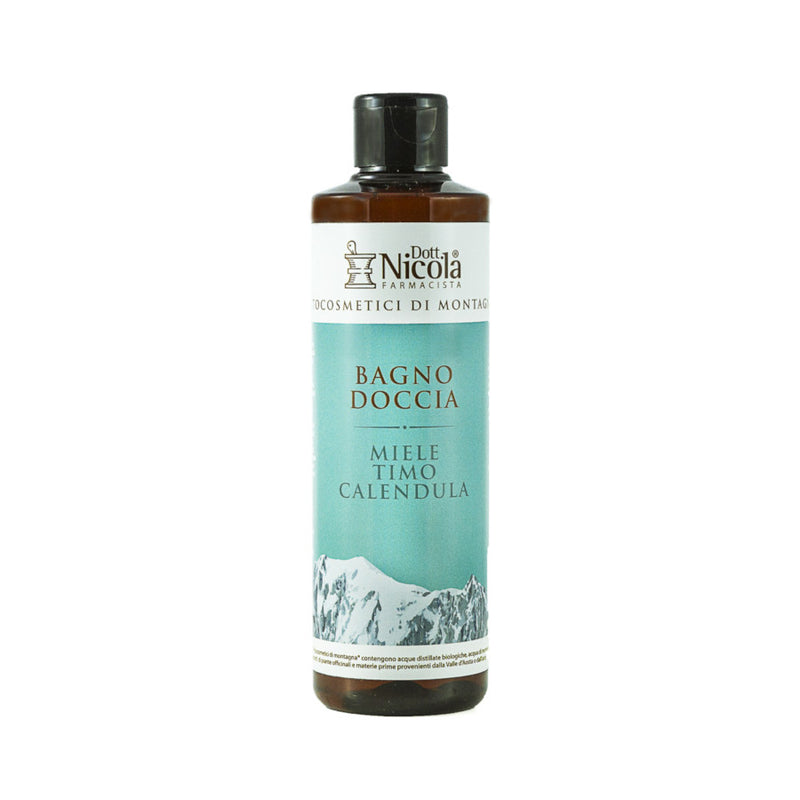 The product contains honey, distilled water, mountain spring water and strong herb extracts, such as thyme and marigold. This body wash doesn't dry out your skin and is perfectly suitable for daily use.
