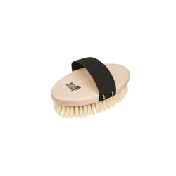 This oval massage brush is made from raw beech, has solid natural bristles and is 13 cm long.
