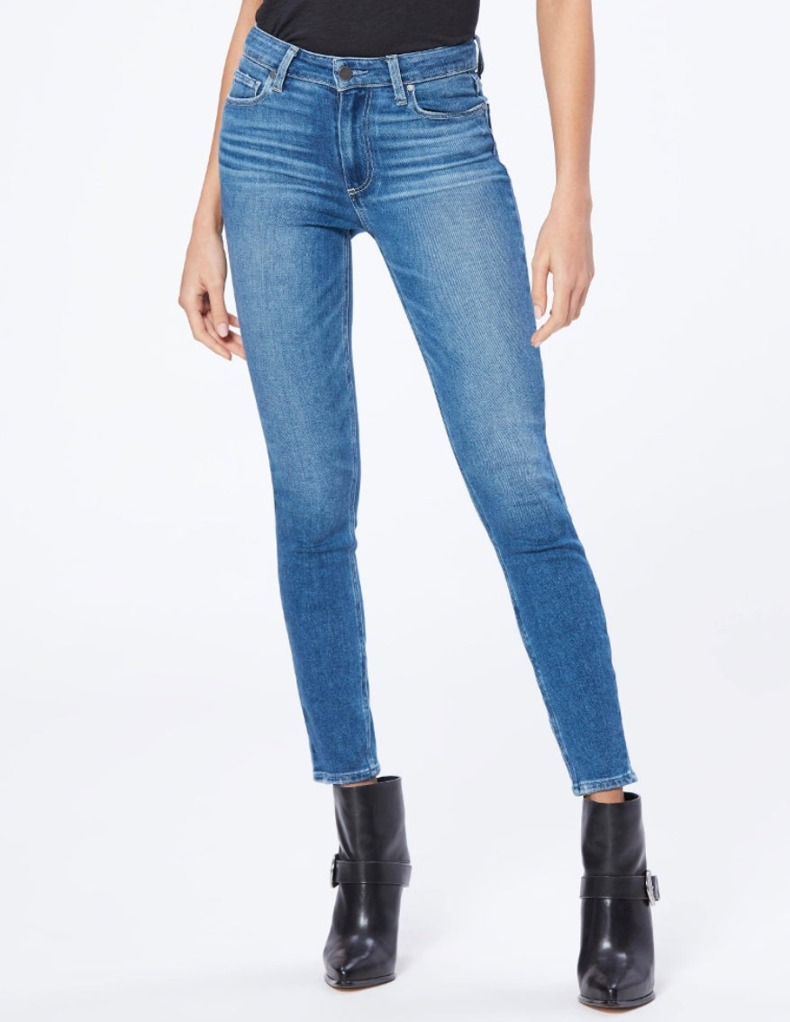 Paige Denim Hoxton Ankle Summit Distressed