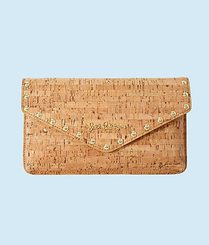 003513 St. Barts Studded Cork Clutch