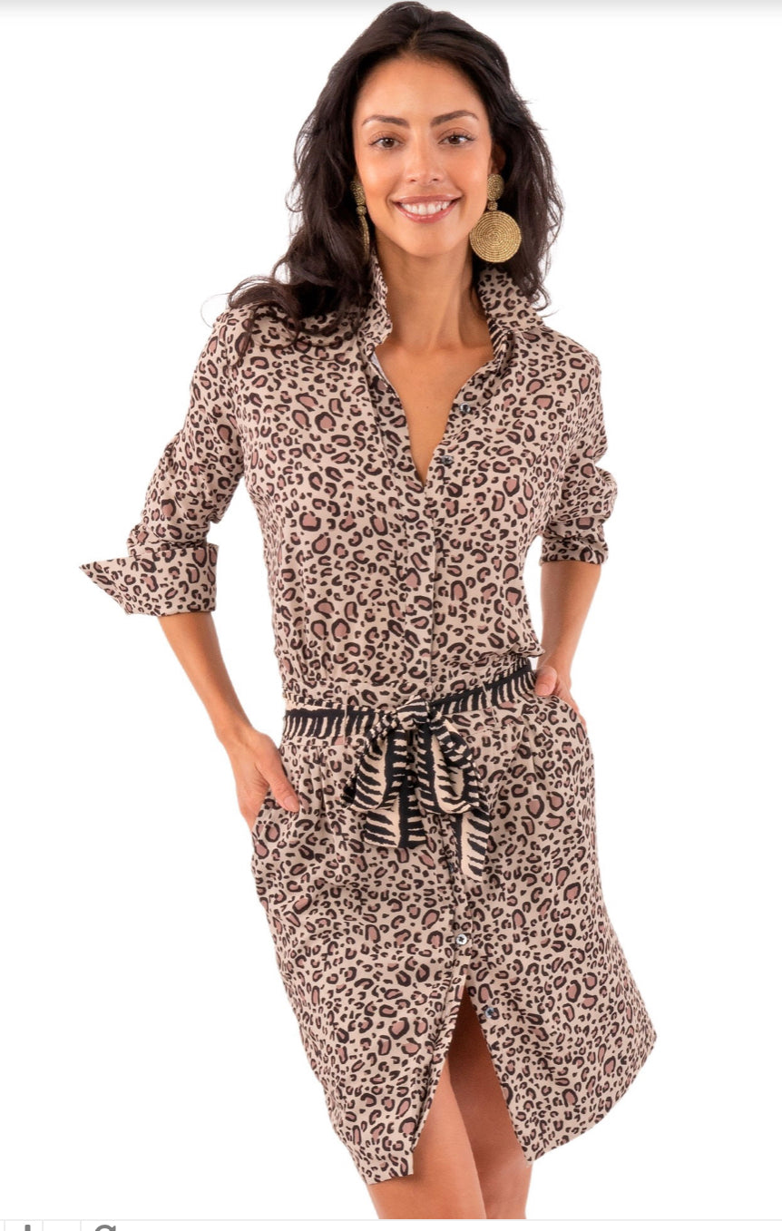 Gretchen Scott Breezy Blouson Cougar Dress