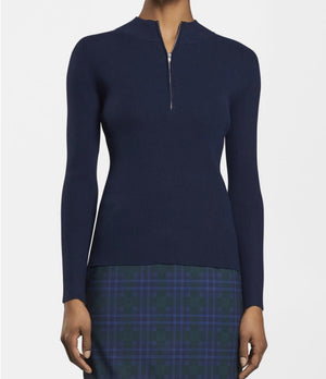 Peter Millar Jillian Engineered Rib Sport Pullover