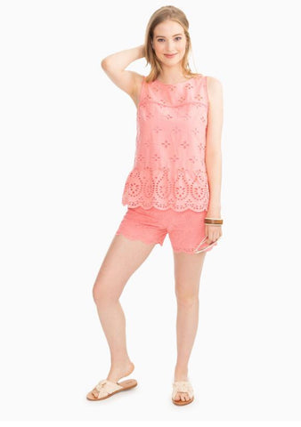 4969 Suri Scalloped Eyelet Top