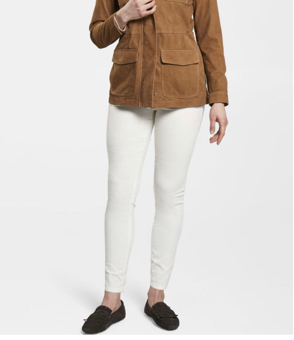 Lorraine Leather Safari Jacket