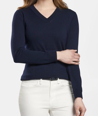 Crown Essence Pointelle V-Neck Sweater