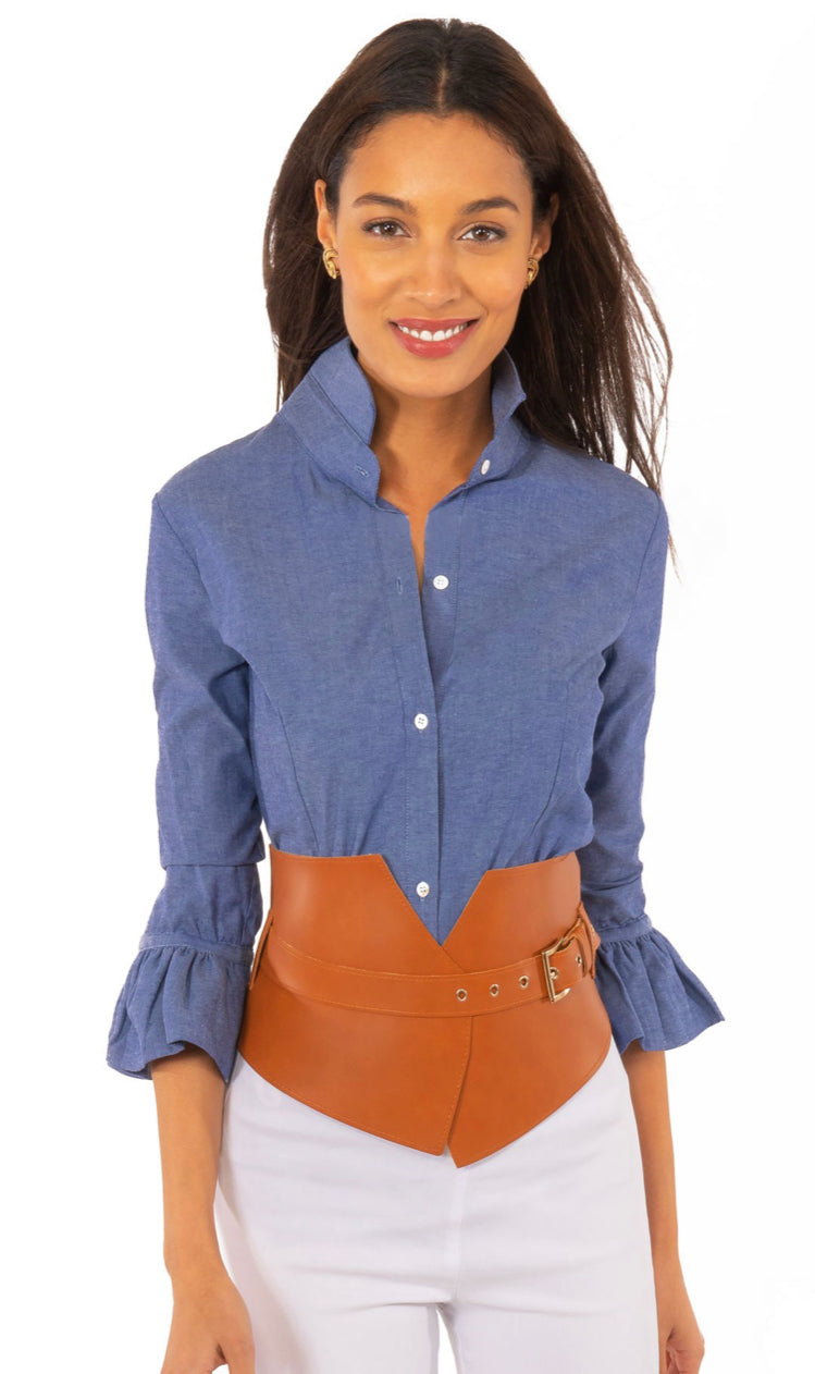 Gretchen Scott Chambray Priss Blouse