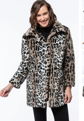 Tyler Boe Faux Fur Animal Coat