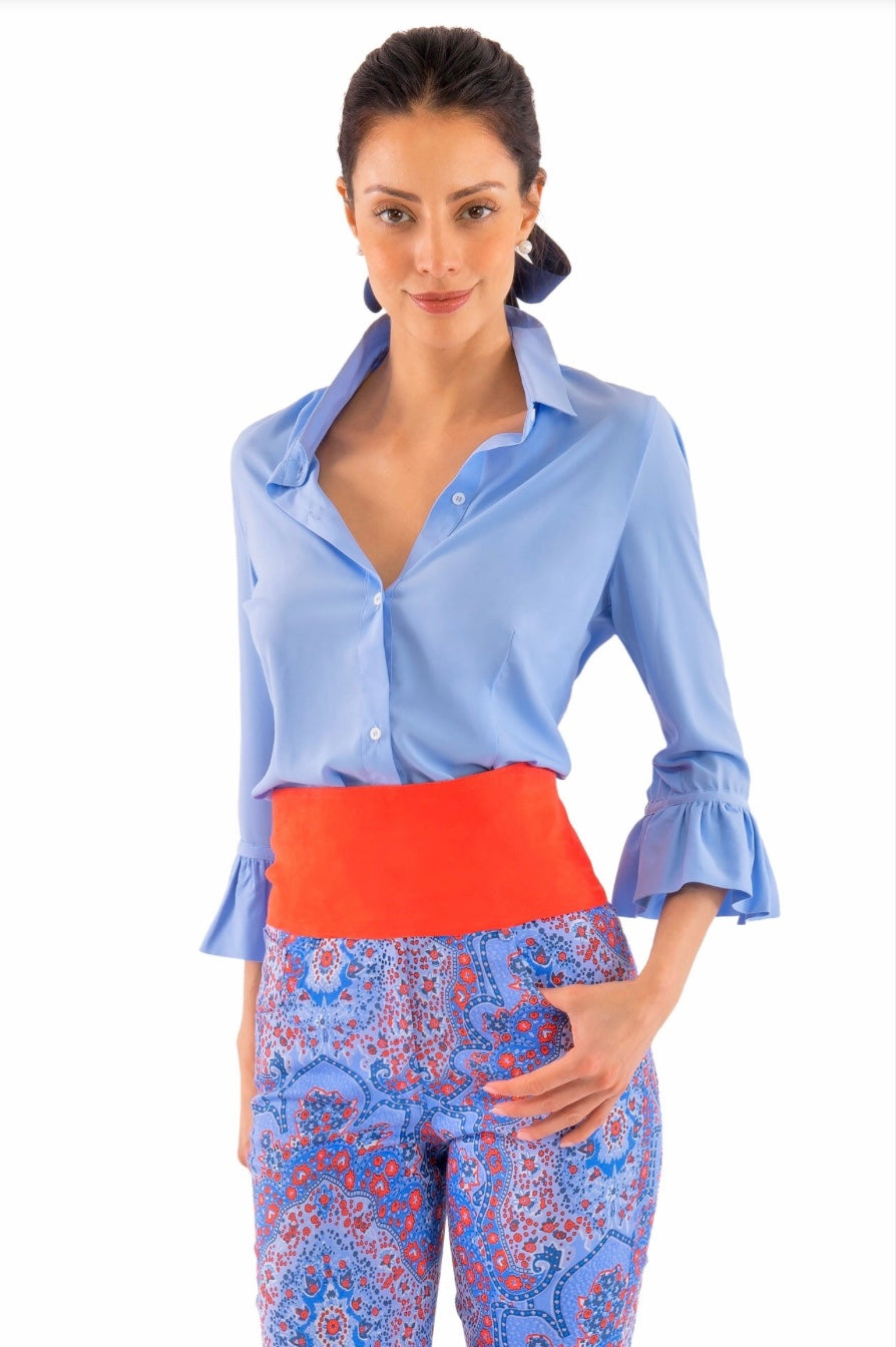Gretchen Scott Priss Chiffon Blouse