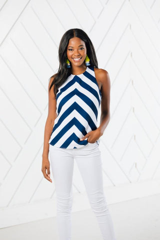 Sail to Sable Cross Back Tank Top