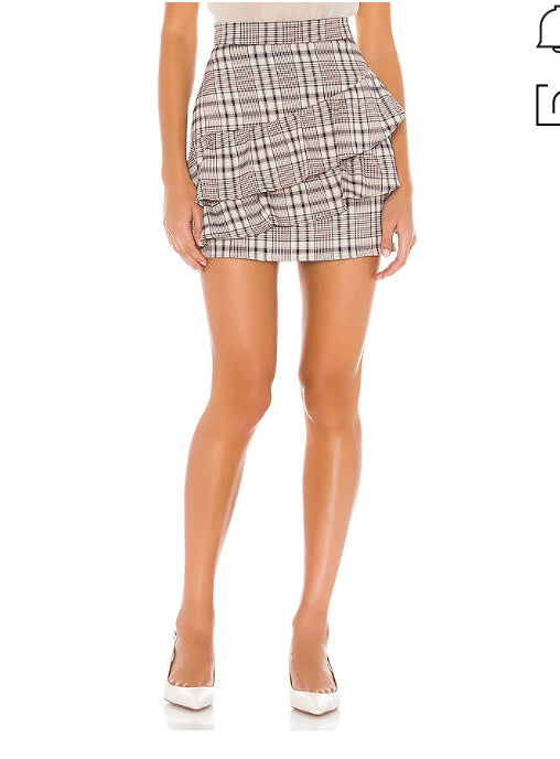 Line and Dot Quinn Ruffle Skirt