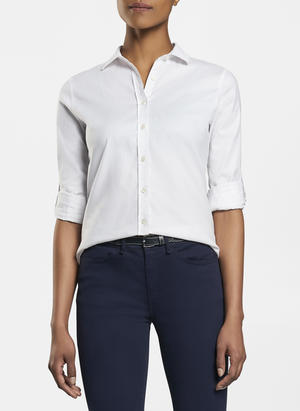 Peter Millar Ladies Essential Stretch Woven Button-up