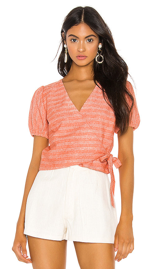 Line and Dot Zoe Wrapped Top LT2504B