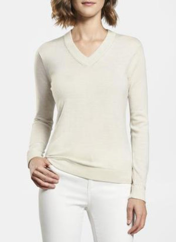 PM Crown Essential Pointelle Vneck Sweater
