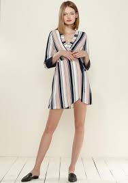 WCI72111 Printed Wrap Dress