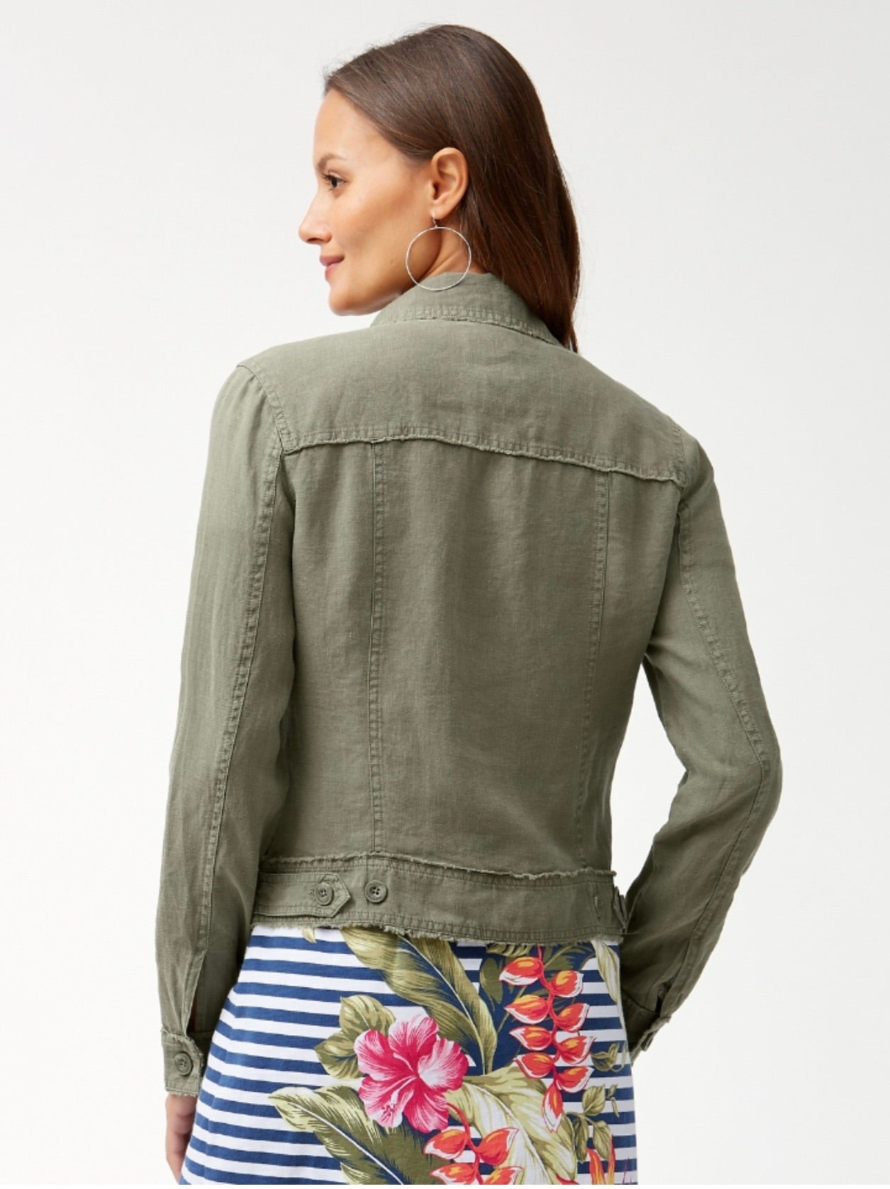 TW510640 Two Palms Raw Edge Jacket