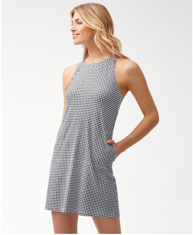 Gingham High Neck Spa Dress