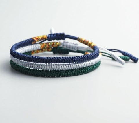 Image of Handmade Buddhist Knots Rope Bracelet
