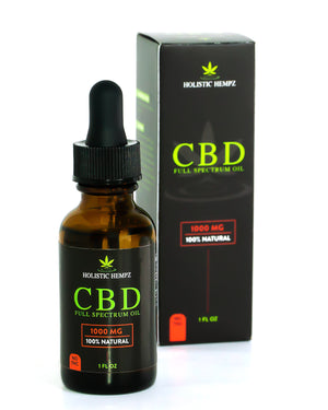 1,000mg CBD Oil - Holistic Hempz - This full-spectrum, all natural CBD oil is formulated to help treat ailments such as chronic pain related to arthritis or anxiety related to PTSD. Our oil is CO2 extracted and third party tested to ensure quality oil is produced. We offer retail and wholesale purchase options.