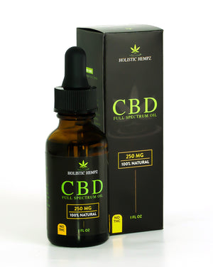 250mg CBD Oil - Holistic Hempz - This full-spectrum, all natural CBD oil is formulated to help treat ailments such as chronic pain related to arthritis or anxiety related to PTSD. Our oil is CO2 extracted and third party tested to ensure quality oil is produced. We offer retail and wholesale purchase options.