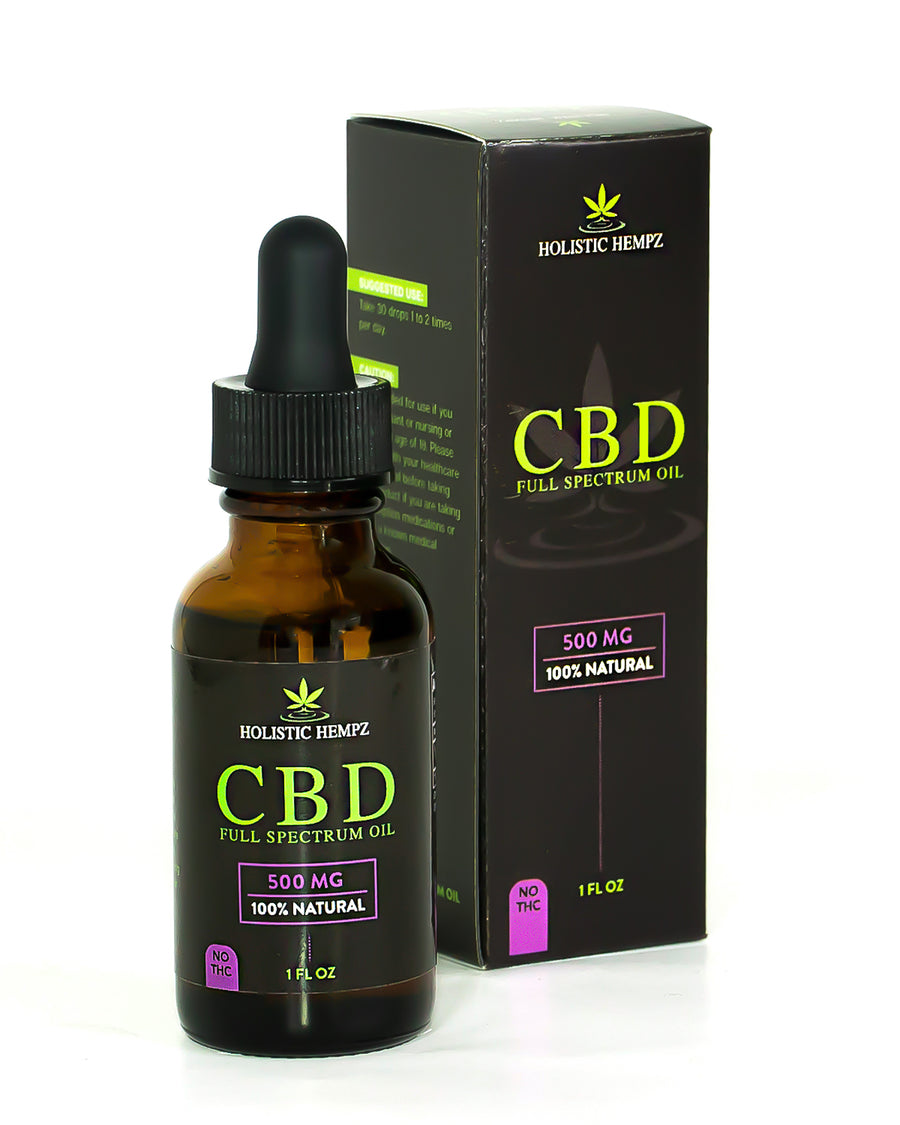500mg CBD Oil - Holistic Hempz - This full-spectrum, all natural CBD oil is formulated to help treat ailments such as chronic pain related to arthritis or anxiety related to PTSD. Our oil is CO2 extracted and third party tested to ensure quality oil is produced. We offer retail and wholesale purchase options.