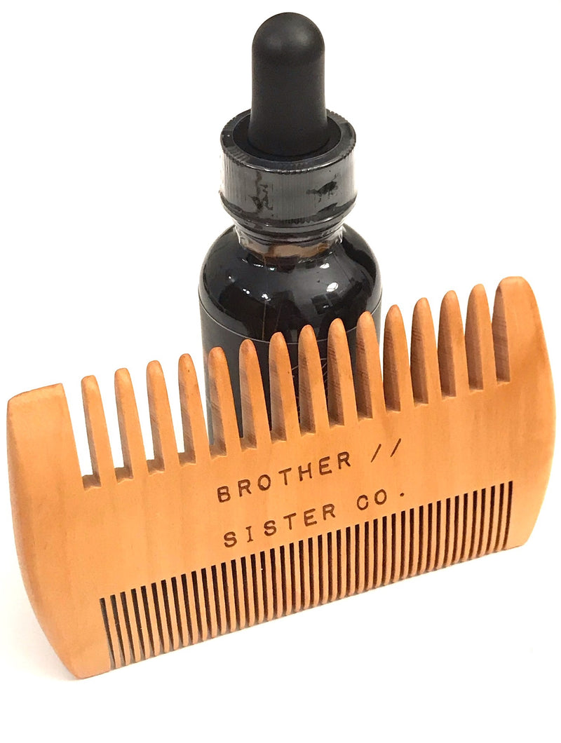 Brother//Sister Beard Oil and Comb Combo