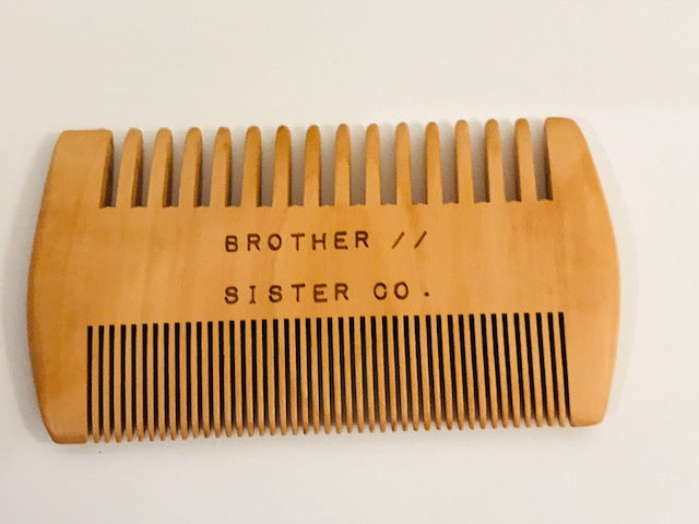 Brother//Sister Beard Comb