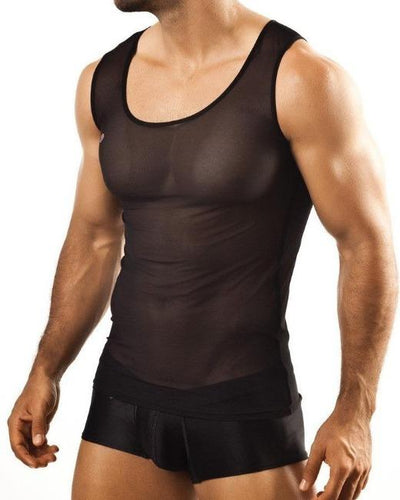 Joe Snyder | Sheer Tank | Black Mesh