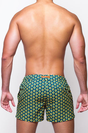 S50 Print Swim Shorts | Bauhaus Gold