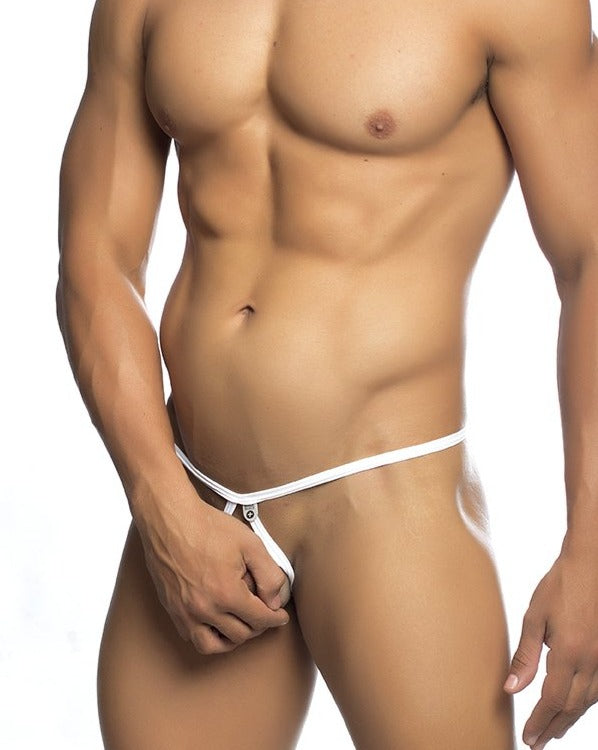 MOB Eroticwear | Tear Drop Thong | White