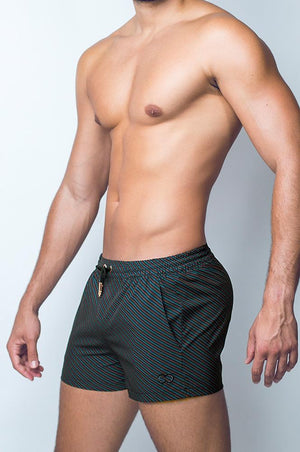Print Swim Shorts | Valor Black