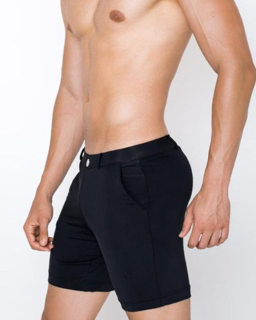 S61 Long Bondi Shorts | Black