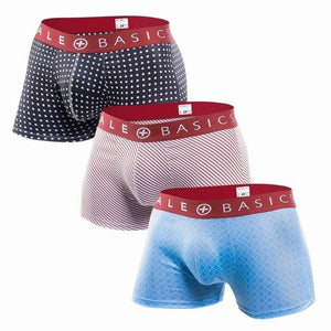Red Band Pattern Trunk | 3 Pack