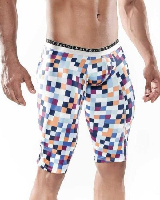 MaleBasics Athletic Microfiber Boxer Pixels