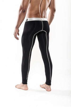 MaleBasics Performance Microfiber Long Johns Black