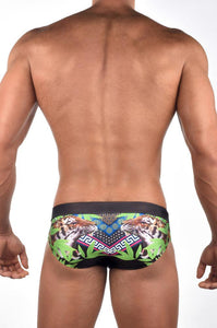 V60 Print Swim Brief | Tiger