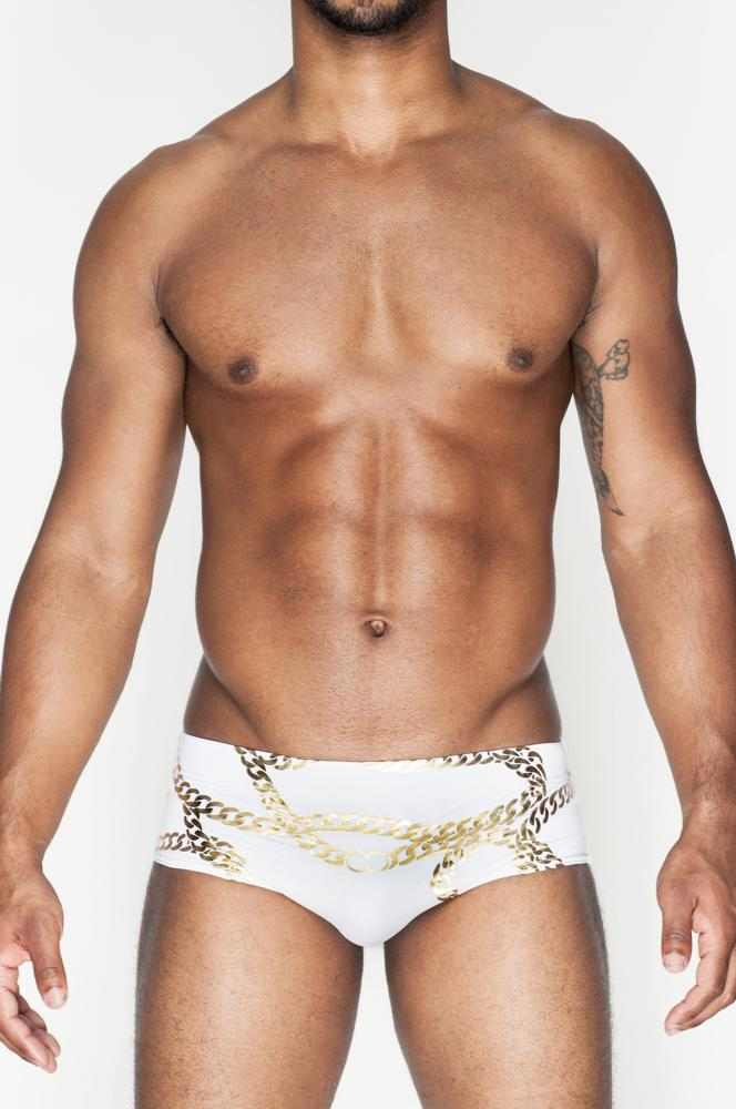 V32 Cuban Swim Brief | White