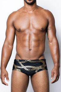 V32 Cuban Swim Brief | Black