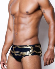 Load image into Gallery viewer, V32 Cuban Swim Brief | Black