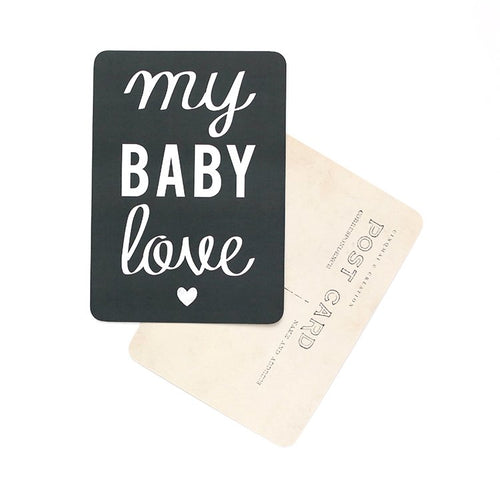 Carte My baby love ardoise