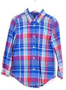 Ralph Lauren Long Sleeved Check Shirt Age 6