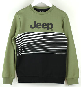Jeep Khaki/Black Sweatshirt Age 8