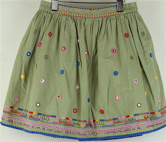 Monsoon Khaki Skirt Age 7-8